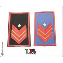Tubolari Plastificati Carabinieri Invernali o Estivi Nuovi Gradi Riforma Appuntato Scelto con Carica Speciale Art.CC-NEW-4