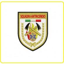 Patch Toppa Ricamata a Macchina Squadre Antincendio con Abilitazione al Primo Soccorso Soccorso Sanitario  Art.NSD-SS-SQ