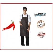 Grembiule Pettorina Cuochi Chef Parigi Fantasie Chili Peperoncini  Giblor's Italia Art.10M1836C