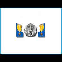 Mostrine Alamari Giacca o Camicia Esercito Italiano Paracadutisti 185° RAO Art.185-RAO