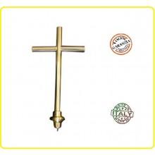 Lancia Puntale Ottone per Aste Portabandiera Croce Art.BRK-CROCE