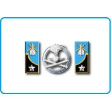 Mostrine Alamari Giacca o Camicia Esercito Italiano Artiglieria Contraerea Art.NSD-A-ARC