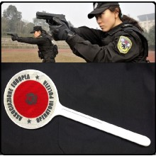 Paletta Segnaletica Ambo le Parti Rosse  Associazione Europea Operatori di Polizia AEOP Art.R0054