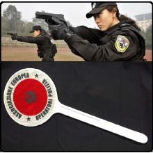 Paletta Segnaletica Parte Rossa Parte Verde Associazione Nazionale Operatori di Polizia AEOP A.E.O.P.Art.R0074