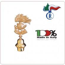 Lancia Puntale Ottone per Aste Portabandiera Carabinieri o  Associazione Nazionale ANC Art.NO-DRK-56