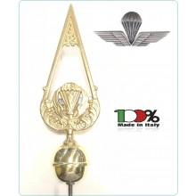 Lancia Puntale Ottone per Aste Portabandiera Parà Paracadutisti Folgore Art.186/PA