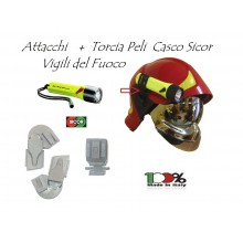 Torcia Antideflagrazione Anti deflagrazione Certificata Vigili Del Fuoco Con Attacchi Peli 2410 LED New Art.PELI2410