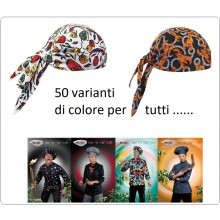 Bandana Sagomata Professionale Ego Chef Italia 50 varianti di Colore Art.7002-