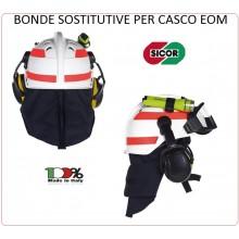 Adesivi Originali Ricambio Per Casco EOM Sicor Vigili del Fuoco VVFF Protezione Civile Art.5223050308