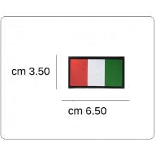 Bandiera Italia Rettangolare a Rilievo in PVC con Velcro per Tuta Operativa Soccorritori Militare Aeronautica Esercito CRI Art.BAND-EUMAR
