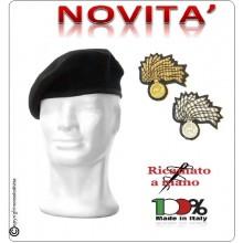 Basco Spagnolo Nero con Fregio Carabinieri CC Ricamato a Mano Riforma Nuovi Gradi FAV Italia Art.CC-BASCO-NEW