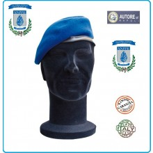 Basco Spagnolo Azzurro Bordo Tessuto con Fregio Metallo A.N.P.PE. FAV Italia Art.B-ANPPE