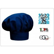 Cappello Cuoco chef Unisex Blu Nevy Chef Ego Chef Italia Art.7000006C