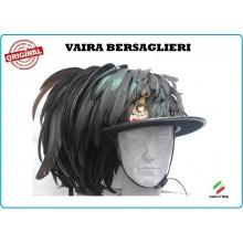 Cappello Moretto Vaira Bersaglieri con Piumetto e Fregio Made in Italy Art.TUSCAN-B