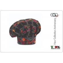 Cappello Copricapo Berretto Cap Cuoco Chef Ego Chef Italia Pepper Art.7000129A