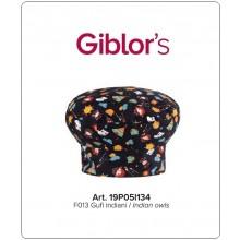 Cappello Cuoco Chef Giblor's Italia Gufi Indiani Art.19P05I134