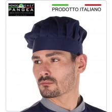 Cappello Cuoco Chef Professionale Pangea Blu 100% Italia Art.JO0900