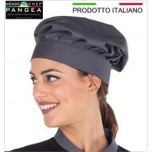 Cappello Cuoco Chef Professionale Pangea Grigio Piombo 100% Italia Art.JO0400
