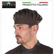 Cappello Cuoco Chef Professionale Pangea Verde Militare 100% Italia Art.JO0700