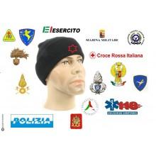 Watch Cap Berretto Zuccotto Papalina con Ricamato il Logo o la Scritta del Tuo Gruppo Militare Civile Soccorso Art.PAPALINA