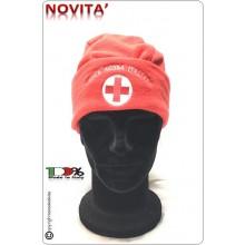 Berretto Cuffia Papalina in Micropile Pile Rossa Climi Freddi Croce Rossa Italiana Art.NSD-BUS-CRI