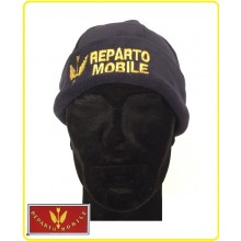 Berretto Zuccotto Papalina Watch Cap in Pile Polizia di Stato Reparto Mobile Art.NSD-PSRM