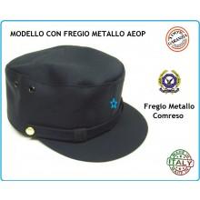 Berretto Tipo Polizia di Quartiere con Fregio Metallo AEOP  Art.FAV-AEOPQ