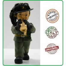 Statuina in Resina Dipinta a mano Esercito Bersaglieri con Tromba Art.Seu008 07041