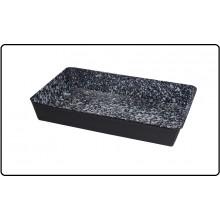 Teglia Liscia Speciale in Acciaio di Medio Spessore Trattato Smaltato e Antiaderenza Art.33609D