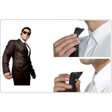 Cravatta Nera Classica con Nodo già Fatto a Clip Tie Black per Security Vigilanza Anti Strangolamento FOSTEX Art.217300