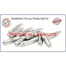 Bombolette CO2 per Pistole Soft Air Confezione 10 Bombolette  Art.C10