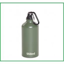 Bottiglia In alluminio  FOSCO Verde 550 ml Con Moschettone Art.349510