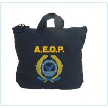 Sacca Zaino Portacasco Porta Casco Helmtasche Helmet Laptop Bag con Logo Ricamato AEOP A.E.O.P. Ass. Nazionale Operatori di Polizia Art.BAG-AEOP