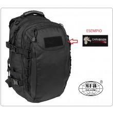 Zaino Militare Aktion 40 litri Nero Con Ricamo Staccabile da Scegliere .... MFH Art.30310A