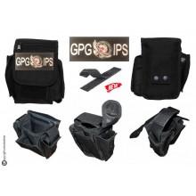 Borsetto Tasca Multiuso per Cinturone Cordura MHF Nero Blak Ricamo GPG IPS AQUILA  Art. 30745A-GPGIPSA