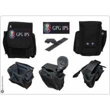 Borsetto Tasca Multiuso per Cinturone Cordura MHF Nero Blak Ricamo GPG IPS Art.30745A-GPGIPS