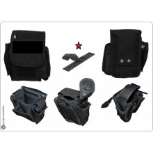 Borsetto Tasca Multiuso per Cinturone Cordura MHF Nero Blak  con Predisposizione Velcro per il Tuo Stemma  Art. 30745A