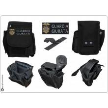 Borsetto Tasca Multiuso per Cinturone Cordura MHF Nero Blak Ricamo Guardia Giurata Art.30745A-GG