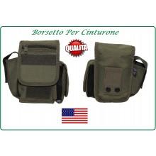 Borsetto Multiuso per Cinturone Cordura MHF Verde OD Art.30745B