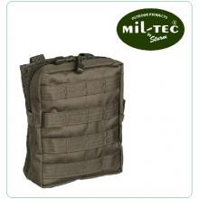 Tasca Utility Softair MOLLE Large OD Contiene Kit Primo Soccorso Garze ecc MILTEC Art.13487101