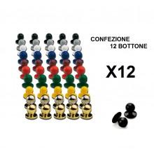 Bottone Bottoni Funghetto per Giacca Cuoco Chef Confezione 12 Pezzi Ego Chef Art. BOTT-12