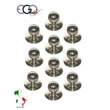 Bottone Per Giacca Cuoco Silver Ego Chef Italia Art.640401