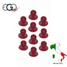 Bottone Bottoni Funghetto Per Giacca Cuoco Bordeaux Ego Chef Italia Confezione 12 pezzi Art.640003