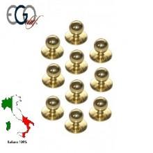 Bottone Bottoni Per Giacca Cuoco Gold Ego Chef Italia Confezione 12 pezzi Art.640402