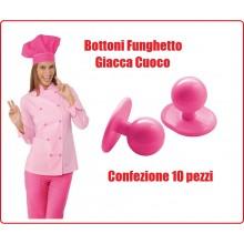 Bottone Bottoni Funghetto per Giacca Cuoco Chef Confezione 10 Pezzi Berretto Cuoco Ego Chef Isacco Art.113086