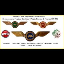 Ali Guida Brevetto Guida Veloce Carabinieri Polizia Pol. Penitenziaria Guardia di Finanza Vigilanza Croce Rossa Italiana 118 Art.BER-TV