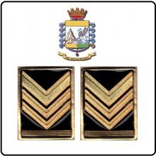 Coppia di Gradi Metallo Brigadiere Capo Modello Nuovo Guardia di Finanza GDF Art.GDF-BC