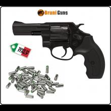 Rivoltella Pistola a Tamburo Bruni Italia Nera Cal 380 Art.14SBP2