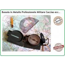 Bussola Cartografica Metallo Professionale Scout Militare Montagna Campeggio Soft Air  Art.34023