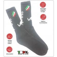 Calze Calzini Calzetti Anti Sudore Massaggio Caviglia Polpaccio Specifica per Stivaletto Anfibio Guardia Giurata GPGIPS Cotone Comodissime Tactical Bamboo Socks Nera Art.GPGIPS-1